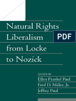(Social Philosophy and Policy 22) Ellen Frankel Paul (Editor), Fred D. Miller (Editor), Jeffrey Paul (Editor)-Natural Rights Liberalism From Locke to Nozick (Social Philosophy and Policy, Volume 22)-C