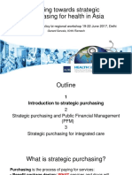Moving towards strategic purchasing for universal health coverage – implications for Public Financial Management and opportunities for integrated care