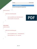 Exercise Java PrintCommand