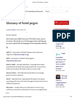 Glossary of Hotel Jargon - EHotelier