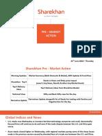 Sharekhan Pre Market Presentation-21th June 2018 Thursday