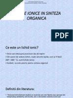 Lichide ionice