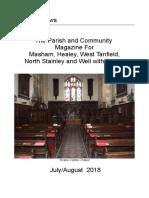 parish magazine july and august 2018