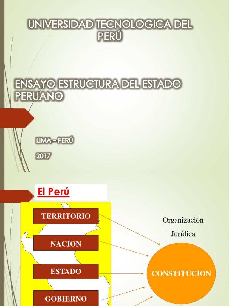 Estructura Del Estado Peruano Ppt