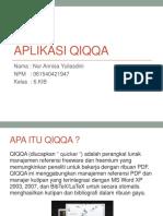 Aplikasi Qiqqa Uts