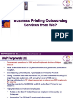 WeP Print & Save Services