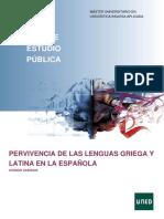 Pervivencia de Las Lenguas Griega y Latina en La Española