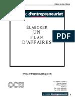 Élaborer Un Plan d'Affaires