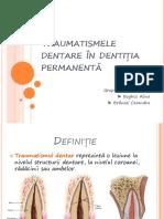 Traumatismele Dentare În Dentiția Permanentă