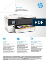 HP OfficeJet Pro 7720 Wide Format A3 All-in-One Colour Inkjet Printer