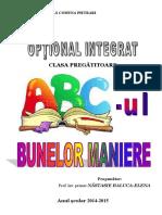 ABC-ul Bunelor Maniere - Clasa Pregatitoare