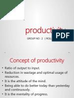 Productivity Final