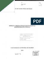 Empleo y  prestación de servicios en la administración pública