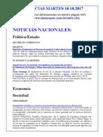Noticias Martes 10.10.2017