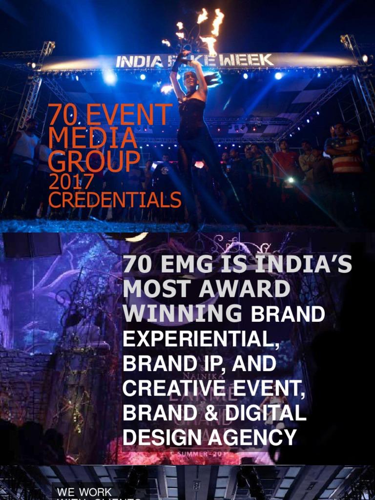 70 Event Media Group: 2017 Credentials