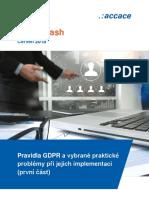 Pravidla GDPR a vybrané praktické problémy při implementaci