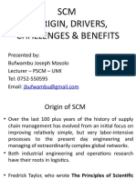 Scm - Origin Drivers Challenges Benefits - Value Chain