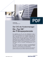 "Der CIO als Kostenmanager. Die ""Top 100"" der IT-Einsparpotenziale (Detecon Executive Briefing)"