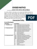 Conversion Notice Revised 6 6