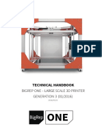 Technical Manual BigRep ONE-2015!05!23