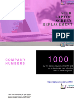 Acer Laptop Screen Replacement in Dubai