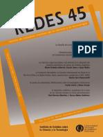 Redes. Revista de Estudios Sociales de la Ciencia y la Tecnología #45