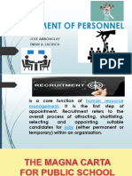 Recruitment of Personnel
