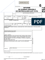 Informe de Dominio Inmueble No Matriculado