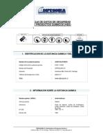 Hoja de Seguridad de Productos Quimicos (Hds)