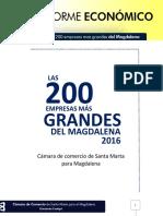 Las 200 Empresas Mas Grandes Del Magdalena 2016