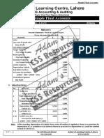 Simple Final Accounts Past Paper Solutions Q # 1 & 3 & 7