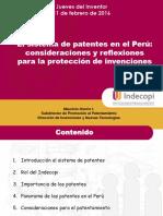 11-02-2016 El sistema de patentes en el Perú consideraciones y reflexiones para la protección de invenciones.pdf