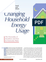 Changing the Household Energy Usage