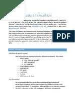 dsm - icd transition guidance