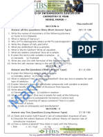 IPE Chemistry Model Paper 1 Question Paper