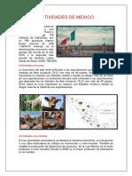 Actividades de Mexico