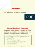 Chapter 2b Central Tendency
