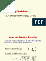 Chapter 2d Standardized Scores