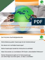 GfK-Studie Nachhaltige Verpackung