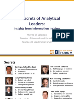 Secrets of Analytical Leaders