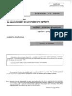 AGREGEXT Probleme de Physique Option Physique 2005 AGREG PHYS