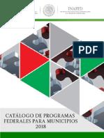 Catalogo de Programas Federales 2018