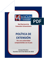 ASCUN Política de Extensión