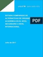 UNICEF Estudio Comparado Internacional Sobre Modelos de Regulación de La Educación Secundaria