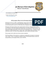 Georgia Bureau of Investigation has released info in police involved Kingsland shooting