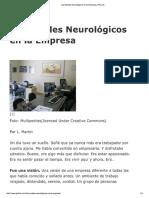 Los Niveles Neurológicos en La Empresa