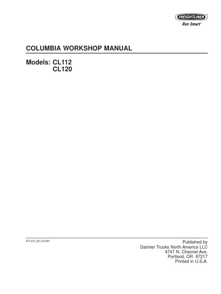 Columbia Workshop Manual | Litre | Ounce