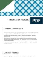 communation disortors