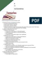 Temario de Ingeniería Económica – Luis González Rivas