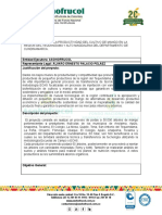 Mejoramiento de La Productividad Del Cultivo de Mango en La Region Del Tequendama y Alto Magdalena Del Departamento de Cundinamarca